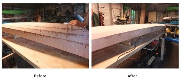 Started sanding the hull.