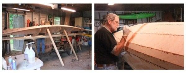 Starting gluing the hull