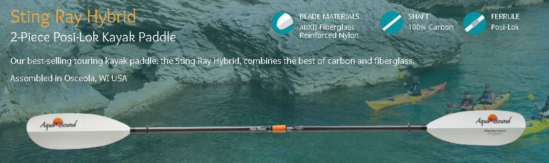 string ray hydrid kayak paddle