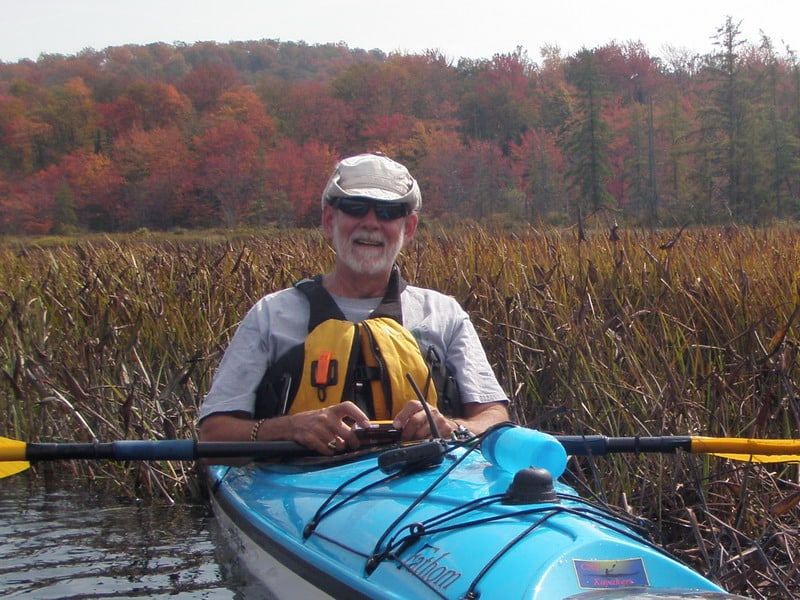 Kayaking in New York State in the Fall